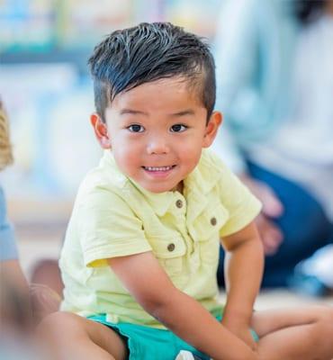 older preschoolers program, young boy smiling